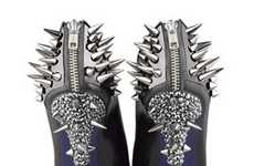 Studded Platform Pumps - These Ruthe Davis Booties from the Fall/Winter 2010 Line are Gothic Fierce