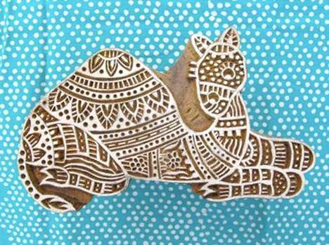 "Wood Block Stamps from ""A Trade for a Trade"""
