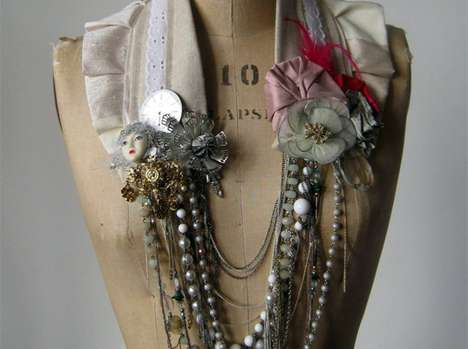 Upcycled Gothic Ornaments  - Charlotte Hosten Creates Dark, Romantic Eco Jewelry