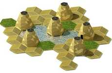 Green Geometric Islands - This Hexagonal Floating Community is a Zero-Emissions City in Vietnam
