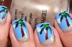 Vacation Manicures - This Palm Tree Nail Tutorial Will Give You the Perfect Digits for Summer