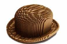 Cardboard Bowler Hats