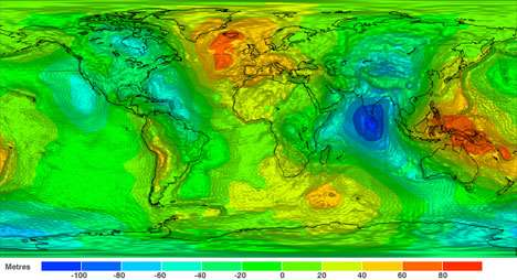 gravity field map