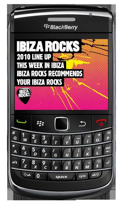 Ibiza Rocks Blackberry App
