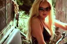 Jailbird Fashion Spreads - The Lindsay Lohan German GQ Photo Shoot is Scantily Clad