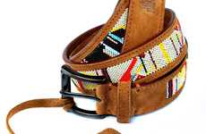 Beaded Leather Accessories - The Trussardi 'Rock & Folk' Range is Down-To-Earth