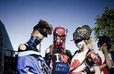 Masked Model Fashion Shows - NOKI and Lovebox Produce a Tight and Bright Show