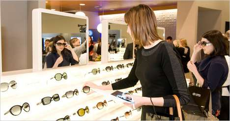 Interactive Merchandising - The Post-Recession Luxottica Group's Eye Hub Store