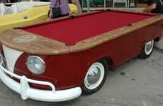 The Volkswagen Pool Table is a Chopped Retro Bus