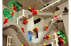 17 M.C. Escher-Inspired Innovations - From False Perspective Posters to Optical Illusion LEGO Builds