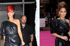 Trashy Celeb Couture - The Lanvin Spring One-Shoulder Calfskin Dress Looks Like a Garbage Bag