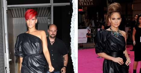 Trashy Celeb Couture - The Lanvin Spring 2010 One-Shoulder Calfskin Dress Looks Like a Garbage Bag
