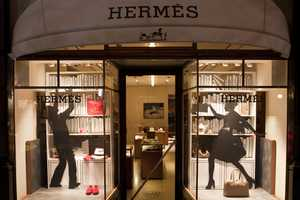The Hermes 2010 Melbourne Window Display is Silhouetted Fun
