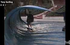 Landlocked Skateboarders Mimic Tubular Waves With Tarps
