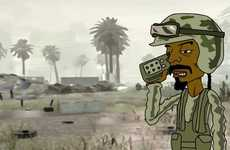 Animated Snoop Dogg Avatar Infiltrates War Video Games