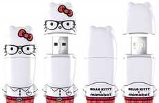 Catty Flash Drives - The Hello Kitty Mimobot USB Collaboration is the Epitome of Cute
