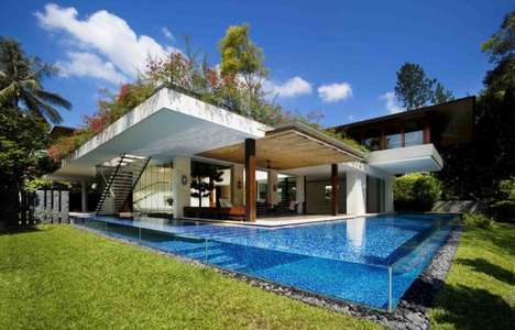 Contemporary Courtyard Homes - The Tangga House by Guz Architects Has a Kickass Pool