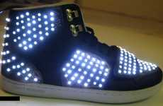 LED Shoes Use Panels to Turn High-Tops & Stilettos Into Trippy Accessories