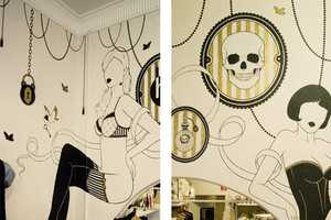 'Harry and Gretal' Walls by Cale Mason Blend Skulls and Retro Imagery
