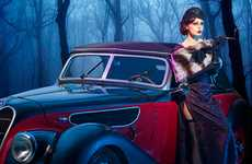 Retro-Styled Photo Manipulation - Sergey Konotopov Blends Old Cars & Hot Women