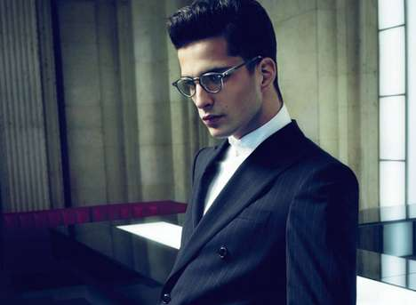 Clark Kent Menswear Ads - Giorgio Armani Fall Campaign is Perfect for Your Alter Ego