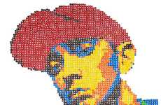 Candy Rap Star Art - Maurice Bennett Makes Portraits Out of Bread and Candies