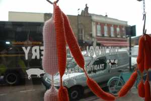 The Wool Butchery by Clemence Joly has Warm Knitted Meats