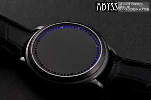 The Abyss Watch is an LED Activated Touchscreen Time Teller