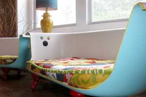 Cast Iron Tubs Become Funky Sofas