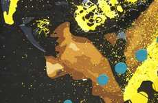 Splattered Sport Art - Timothy Raines Takes 'LIVESTRONG' to a Whole New Level