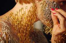 Safety Pin Body Art - Lucy McRae's Body has Hundreds of Pins Glued On