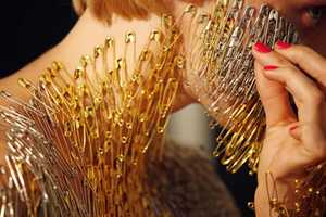 Lucy McRae's Body has Hundreds of Pins Glued On