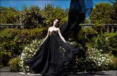 Diaphanous Black Gowns - The Ziad Ghanem Fall 2011 Couture Collection Features Beautiful Silks