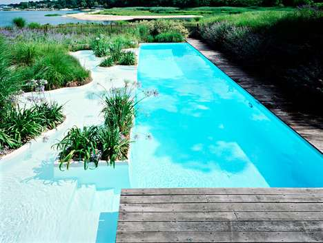 Artificial Dune Pools - Madderlake Designs Creates a Pool That Blends into Nature