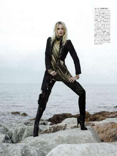 Karl Largerfeld Shoots Natasha Poly