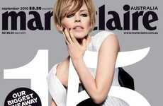 Sophisticated Anniversary Covers - Kylie Minogue for Marie Claire Australia