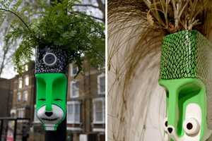 Anna Garforth is 'Head Gardener' of Greenery Filled Tribal Masks