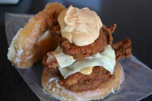 The Fried Chicken Luther Double Down Sandwich