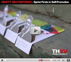 Business Cards 2.0 - Crafty Selfvertising: Sprint Firsts in Self-Promotion