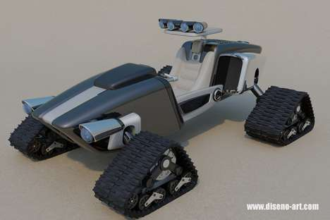 Radical Tracked ATV - The Dune Tracer Concept