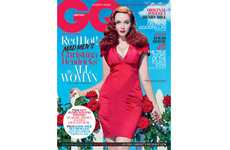 Curvaceous Housewife Covers - The Christina Hendricks GQ Cover is Dangerously Lusty