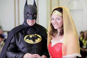Batman and Wonder Woman Tie the Knot in a Superhero Wedding