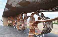 Bracelet-Inspired Benches