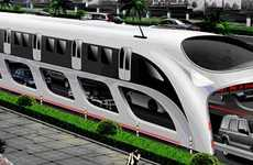 Car-Straddling Buses - '3D Express Coach' Transit System Planned for Beijing is Ginormous