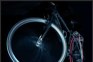 The Cyglo LED Bike Tires Give Off Colorful Lighting