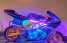 Motorcycle Computer Cases - The Pocketbike I7 Casemod Runs as Fast as a Motorbike