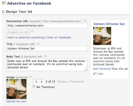 one click facebook ads