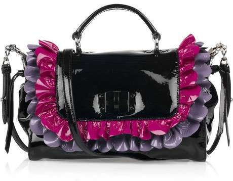 Miu Miu Patent Leather Ruffle