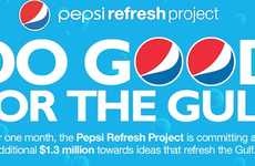 Soda Pop Charity Initiatives - The Pepsi Refresh Project 'Do Good For The Gulf' Campaign