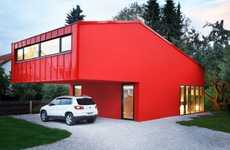Red Block Homes - The Low Budget 'House V' by Jakob Bader Architecture